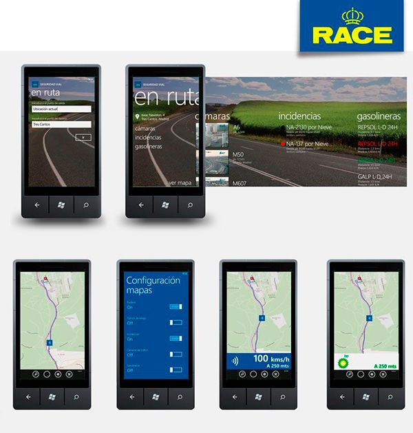 Apps móviles Seguridad Vial RACE